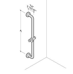 PBA Nylon Fixed Safety Bar with Shower Head Holder
