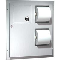 ASI Toilet Tissue Dispenser and Sanitary Napkin Disposal
