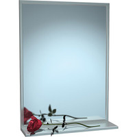ASI Chan-Lok Stainless Steel Framed Mirror with Shelf