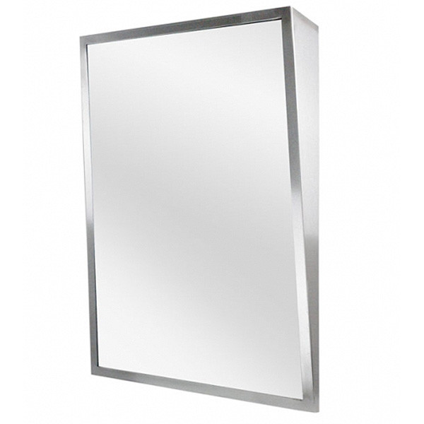 Asi stainless steel framed fixed tilt mirror harbor city Stainless steel framed bathroom mirrors