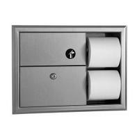 Bobrick Classic Series Napkin Disposal and Toilet Tissue Dispenser
