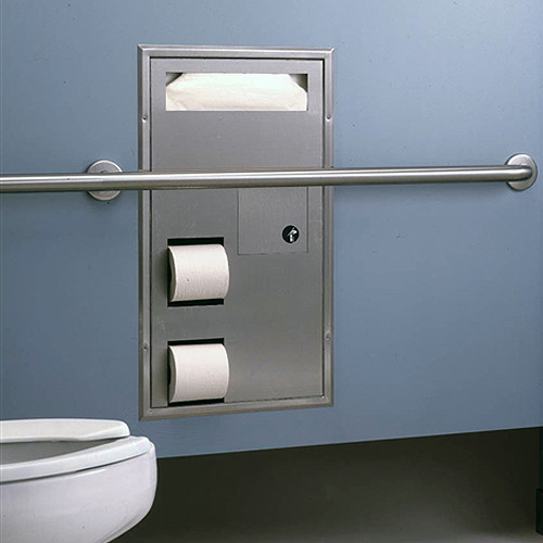 Bobrick Bathroom Partitions Property bobrick classic series seat cover/toilet tissue dispenser and