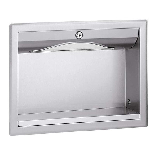 Bradley Stainless Steel In Wall Towel Dispenser With Exterior Shelf Harbor City Supply