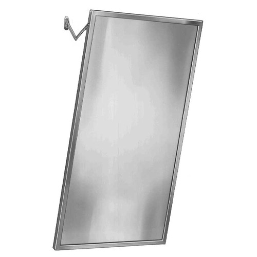 Bradley adjustable tilt stainless steel frame mirror for Bradley mirror