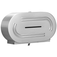 Bradley Double Jumbo Roll Toilet Tissue Dispenser