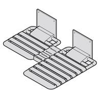 PBA L Shape Nylon Wall Mounted Fold Up Seat