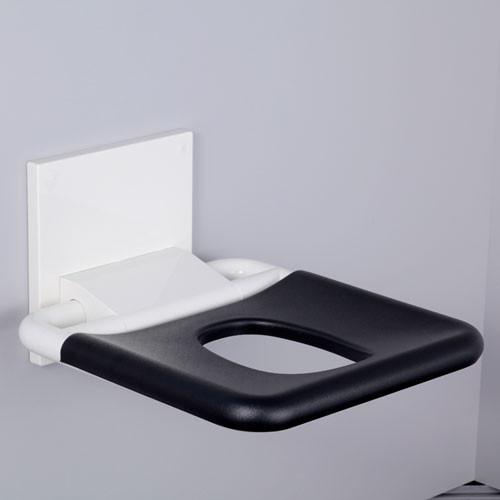 PBA Nylon Wall Mounted Fold Up Shower Seat With Elliptical Hole