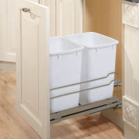 Hafele-Kessebohmer-Pull-Out-Bottom-Mount---Frame-with-Double-Waste-Bin-502.56.810-Chrome