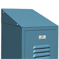 ASI Metal Lockers - Individual Slope Tops