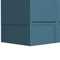 ASI Metal Lockers - Front Base / Closed End Base
