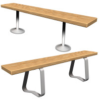 ASI Wood Bench (BENCH-W)