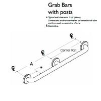 Custom Handrail, 1 Wall, 3 Flange (CHR-SHR-1W-3F)