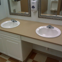Vanity Top - For Vanity Base - Solid Plastic