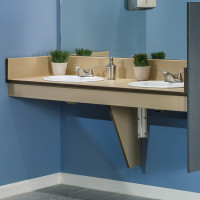 Vanity Top - With Apron and Supports - Solid Phenolic