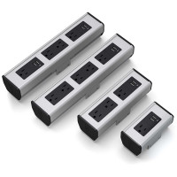 Seclusion (1 to 5 Power with 2 or 4 Active USB Ports) (SECL-1-USB-GB72) Silver Pearl