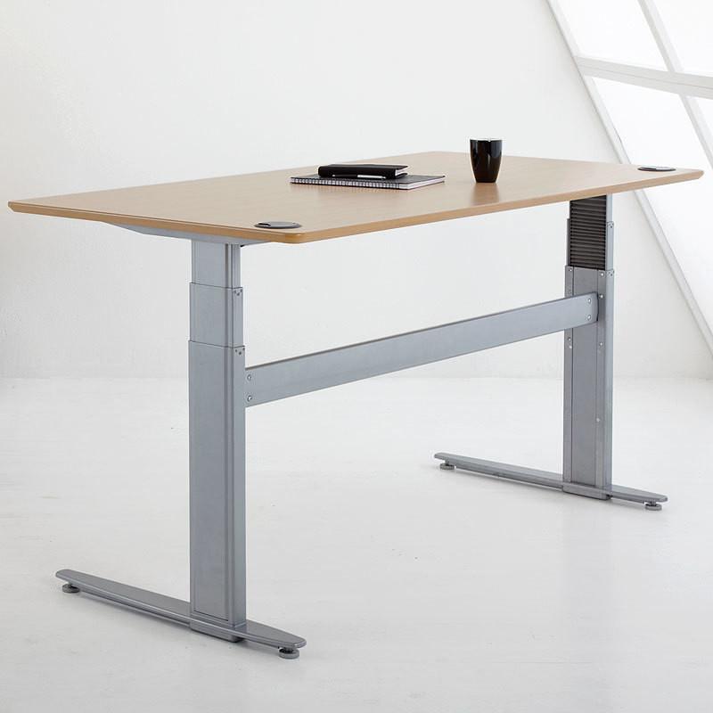 Conset 501 27 height adjustable motorized desk 21 47 sit for Motorized standing desk legs