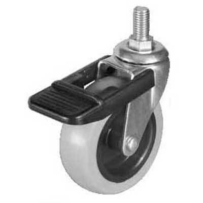 Swiveling Caster w/Brake & M10 thread Mount