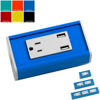 Seclusion - Designer Colors (1 to 5 Power with 2 Active USB Ports) - Light Blue