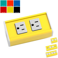 Seclusion - Designer Colors (2 or 4 Power plus Data) - Sulfur Yellow