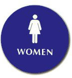 """Cal-Royal 12"""" Diameter ADA Women's Restroom Sign with Braille"""