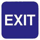 """Cal-Royal 6"""" X 6"""" ADA Exit Sign with Braille"""