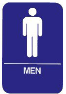 """Cal-Royal 6"""" X 8"""" ADA Men's Restroom Sign with Braille"""