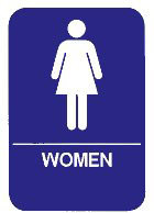 """Cal-Royal 6"""" X 8"""" ADA Women's Restroom Sign with Braille"""