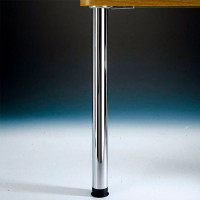 """Zoom Leg Single, 2-3/8"""" diameter, adjusts from 34-1/4"""" up to 38-1/4"""" tall"""