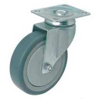 Swiveling Caster w/Mounting Plate