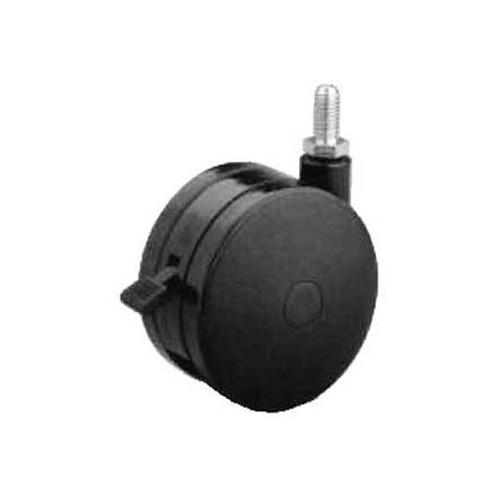 Twin Wheel Casters - Thread Stem Mount M10