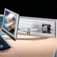 Slat-Wall Mounted LCD Arm Pivot