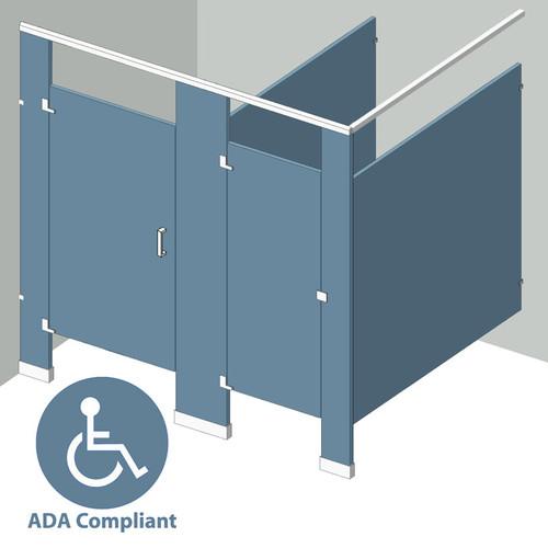 In Corner Left Hand - 2 Stalls ADA IC2LADA