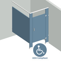 In Corner Right Hand - 1 Stall ADA IC1RADA