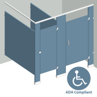 In Corner Right Hand - 2 Stalls ADA IC2RADA