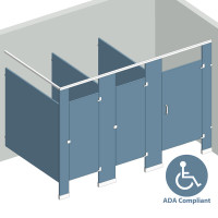 In Corner Right Hand - 3 Stalls ADA IC3RADA