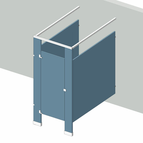 Bathroom partitions 1 stall free standing left hand in for Bathroom stall partitions parts