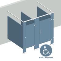 Free Standing Right Hand - 2 Stall ADA FS2RADA