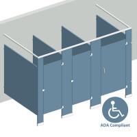 Free Standing Right Hand - 3 Stall ADA FS3RADA