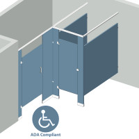 Alcove Left Hand - 2 Stall ADA