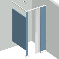 Shower Compartment - In Corner - Right Hand - 1Stall C1R