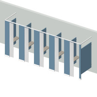 Dressing Compartment - Free Standing - Left Hand - 5 Stall FS5L