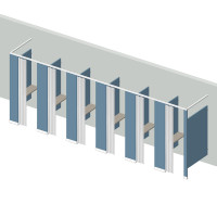 Dressing Compartment - Free Standing - Left Hand - 6 Stall FS6L