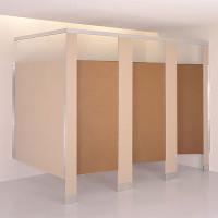 Baked Enamel/Powder Coated Steel Toilet Compartment Door