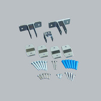 All American Partitions Dividing Alcove Panel Bracket Kit for Plastic Laminate