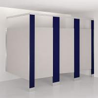 Solid Plastic Toilet Compartment Pilaster