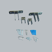 All American Partitions Dividing Panel Bracket Kit for Plastic Laminate
