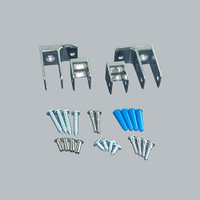 All American Partitions Ending Panel Bracket Kit for Plastic Laminate