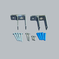 All American Partitions One Ear Wall Mounted Pilaster Bracket Kit for Plastic Laminate