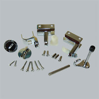 All American Partitions Toilet Compartment Door Hardware Set