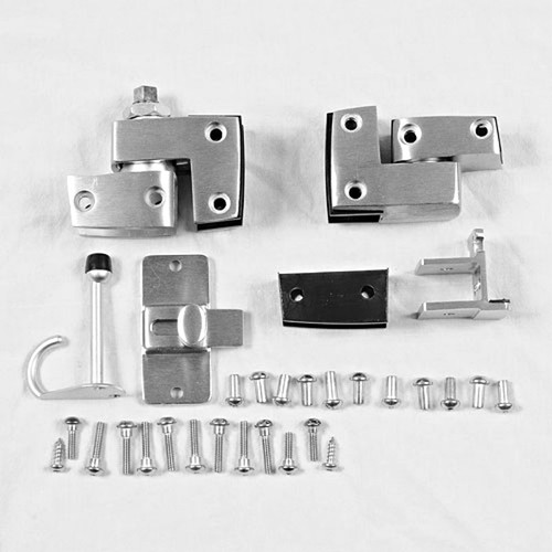 Global partitions hardware set for solid phenolic doors for Bathroom divider hardware